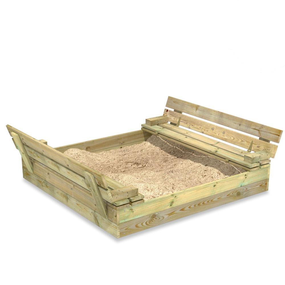 Image of Fatmoose SandSeat sandpit with lift up lid