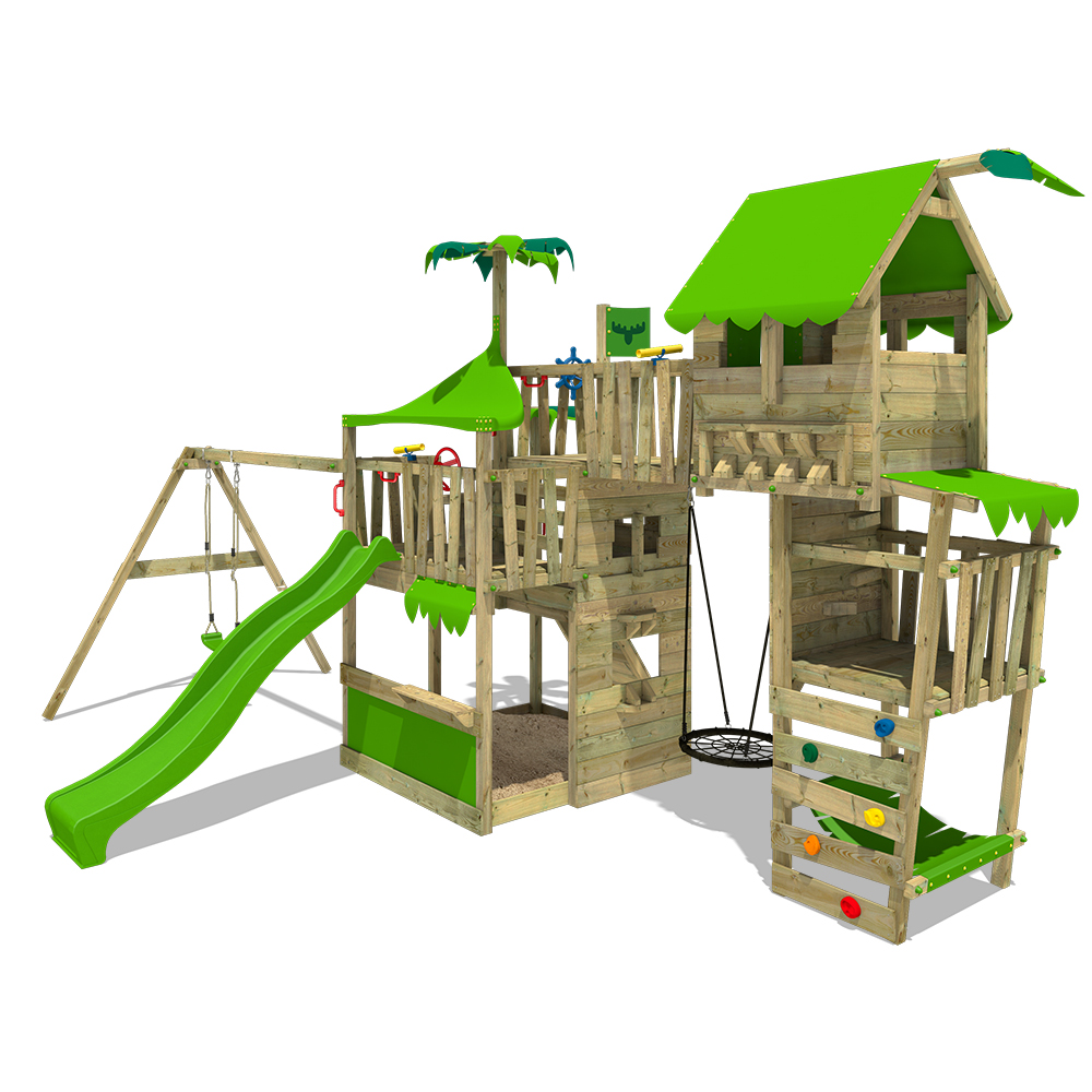 Image of Fatmoose Children's climbing frame TropicTemple Tall XXL