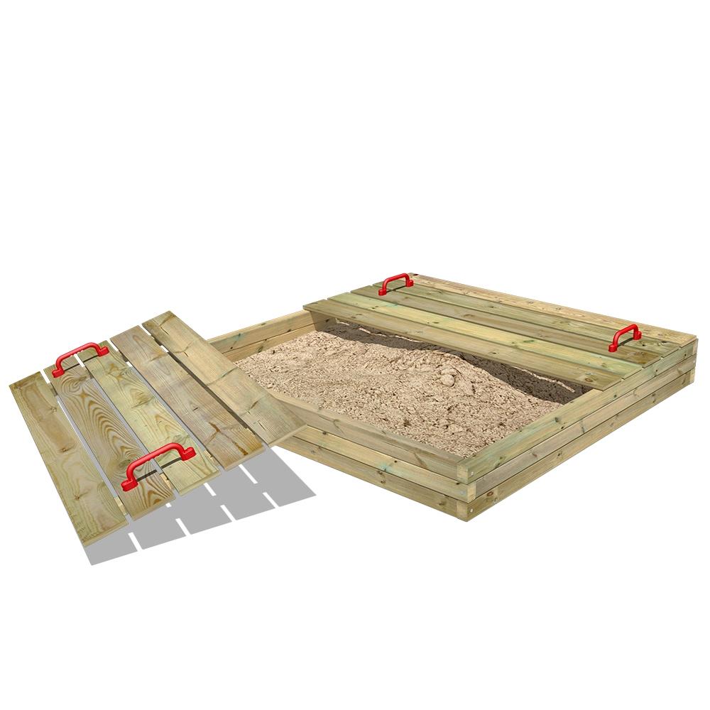 Image of Fatmoose BuddyBox sandpit with lid Wooden sandpit